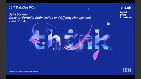 Thumbnail for entry Think 2020: DataOps for the Modern Enterprise - the DataOps Point of View