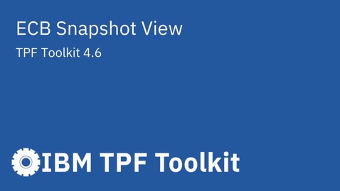 Thumbnail for entry TPF Toolkit: ECB Snapshot View