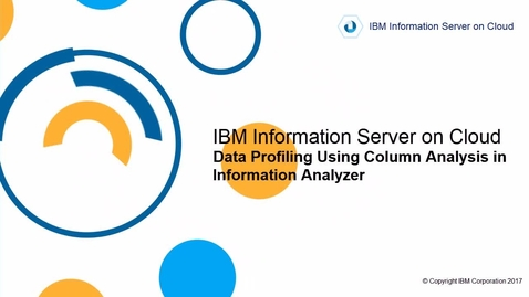 Thumbnail for entry Data Profiling Using Column Analysis in Information Analyzer