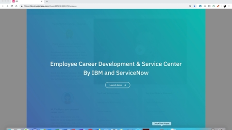 Thumbnail for entry Employee Career Development and Service Center by IBM and ServiceNow