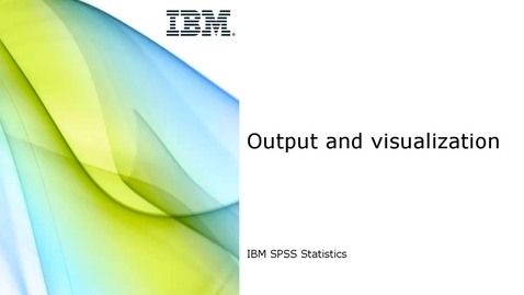 Thumbnail for entry Output and visualization