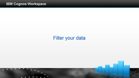 Thumbnail for entry Filter your data