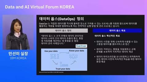 Thumbnail for entry 데이터 운영전략 (데이터 옵스) 및 AI 프로젝트