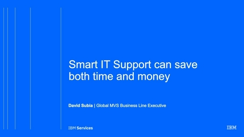 Thumbnail for entry Smart IT Support can save you time and money (USEN)