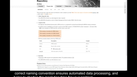 Thumbnail for entry Using ECuRep to submit problem diagnostic data to IBM