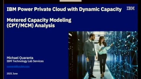 Thumbnail for entry IBM Shared Utility Capacity with PEP 2.0 - how it works and how it can be optimized