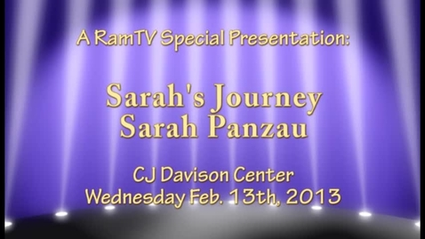 Thumbnail for entry Sarah's Journey - Sarah Panzau