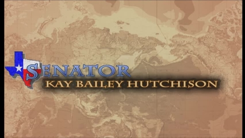 Thumbnail for entry Center for Security Studies Update with Senator Kay Bailey Hutchison