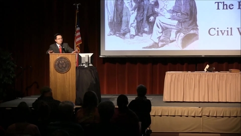 Thumbnail for entry Civil War Lecture Series 2015: Civil War Journalism & Photography - Part 1