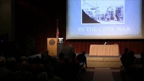 Thumbnail for entry Civil War Lecture Series 2015: Civil War Journalism & Photography - Part 2