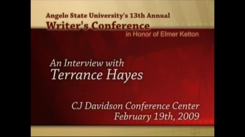 Thumbnail for entry Writer's Conference 2009 - Terrance Hayes