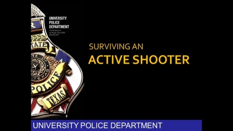 Thumbnail for entry Surviving an Active Shooter - Chief Adams