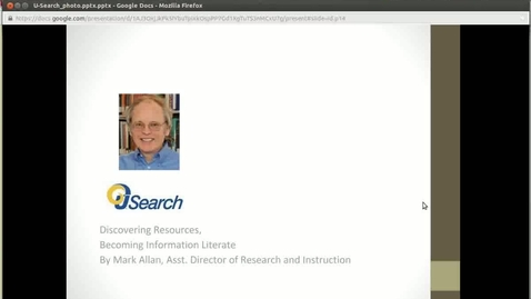 Thumbnail for entry Discovering Research, Becoming Information Literate