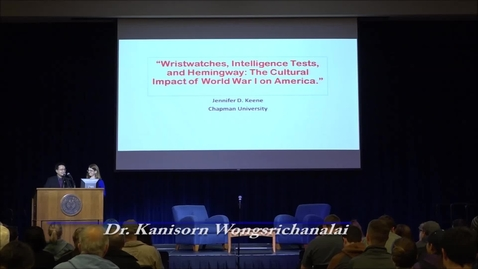 Thumbnail for entry Great War Lecture Series: The Cultural Impact of World War I on America