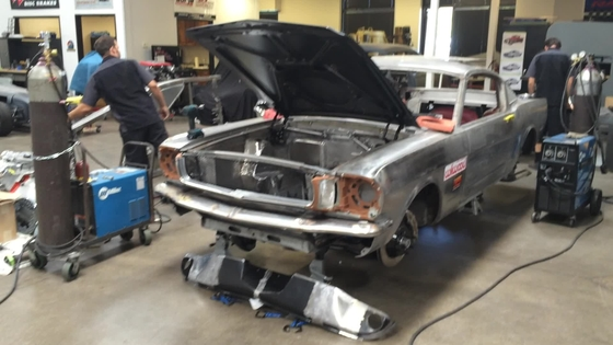 Killer NASCAR-Powered '65 Fastback project in progress