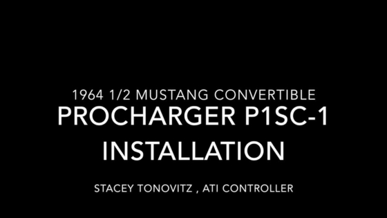 Procharger installation