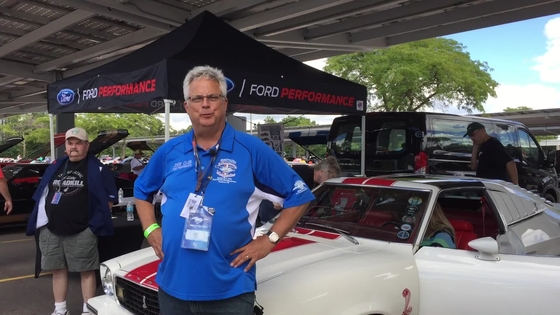 John Clor at the Mustang II Reunion