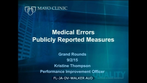 Medical Errors Part 2 - September 2, 2015