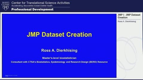 JMP Dataset Creation