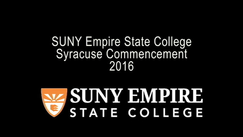 Thumbnail for entry 2016 Syracuse Commencement