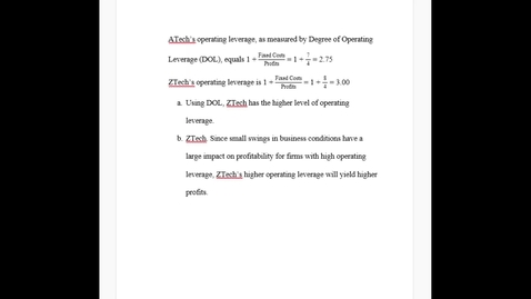 Thumbnail for entry FSMA4010 Chapter 12, Problem 12