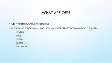 Thumbnail for entry OER Bootcamp 0 - What OERs Are And Why They're Important