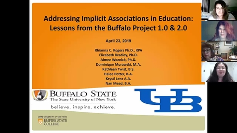 Thumbnail for entry Addressing Implicit Associations in Education: Lessons from the Buffalo Project
