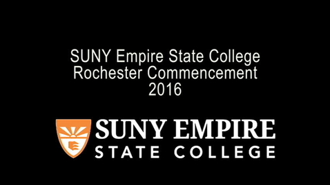 Thumbnail for entry 2016 Rochester Commencement