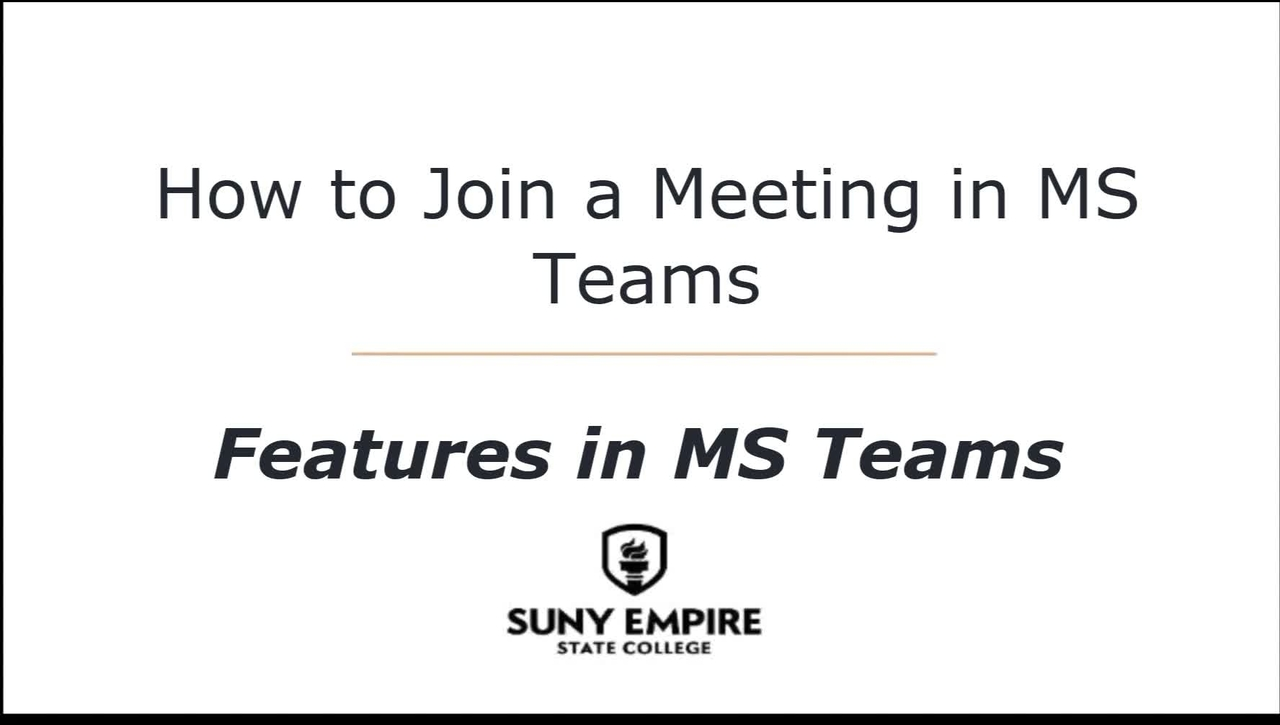 How to Join a Meeting in MS Teams - Features in MS Teams