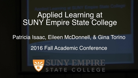 Thumbnail for entry Applied Learning at SUNY Empire State College