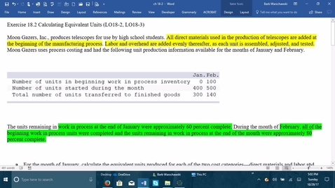 Thumbnail for entry 212064 Introductory Accounting 2 - Problem Demo Exercise 18-2