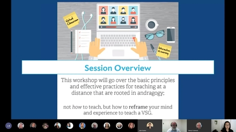 """Thumbnail for entry """"The Components of a Virtual Study Group"""" VSG Webinar Part 1 of 3"""