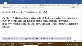 Thumbnail for entry 212054 Introductory Accounting 1 - M03 EXERCISE 8-2 PROBLEM DEMONSTRATION