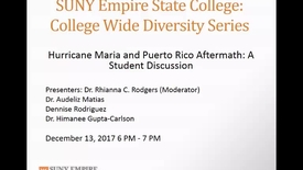 Thumbnail for entry College Wide Diversity Series - Puerto Rico Discussion