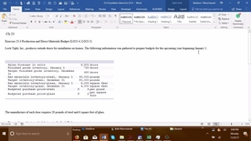 Thumbnail for entry 212064 Introductory Accounting 2 - Problem Demo Exercise 23-4