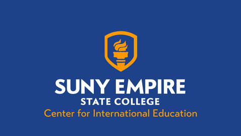 Thumbnail for entry Center for International Education - 2021 SUNY Empire Virtual Summer Commencement