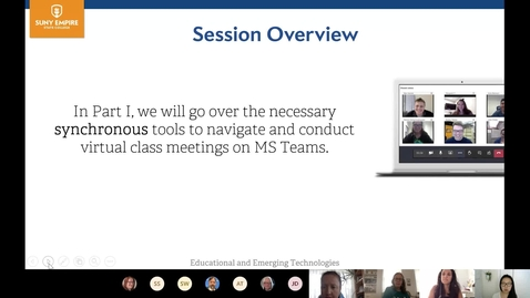 "Thumbnail for entry ""Synchronous Classes on MS Teams"" Webinar"