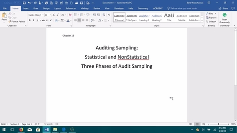 Thumbnail for entry AUDITING--M05 Auditing Sampling