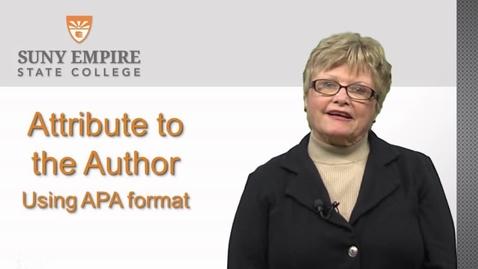Thumbnail for entry APA Citations