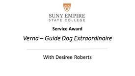 Thumbnail for entry Guide Dog Extraordinaire Verna Award Presentation