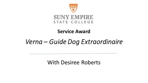 Thumbnail for entry Guide Dog Extraordinaire Verna Award Presentation