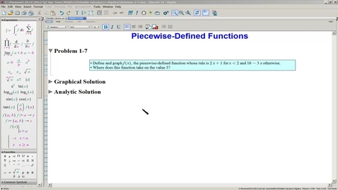 Thumbnail for entry Solution 1-7(a) Piecewise-Defined Functions-Graphical Solution