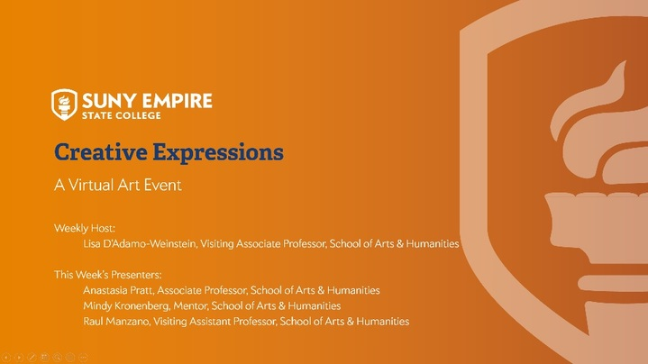 Thumbnail for channel Creative Expressions: A Virtual Arts Presentation Series