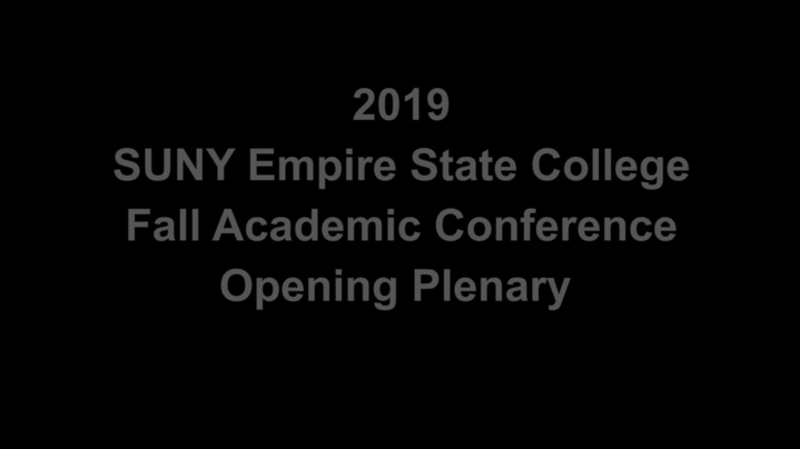 Thumbnail for channel Fall Academic Conference 2019