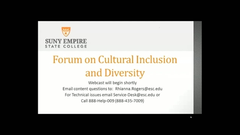 Thumbnail for entry Forum on Cultural Inclusion and Diversity
