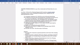 Thumbnail for entry Govt Acctg--Chapter 6 Problem Demo (hard copy attached as well)