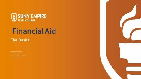 Thumbnail for entry Financial Aid Basics