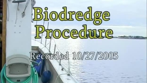 Thumbnail for entry Biodredge Procedure (Module 5)