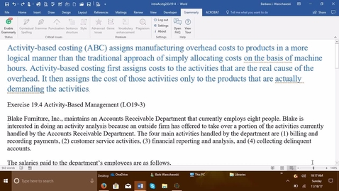 Thumbnail for entry 212064 Introductory Accounting 2 - Problem Demo Exercise 19-4