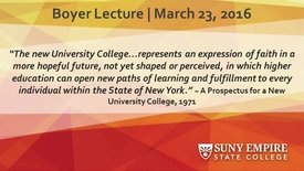Thumbnail for entry Boyer Lecture All College 2016-03-23